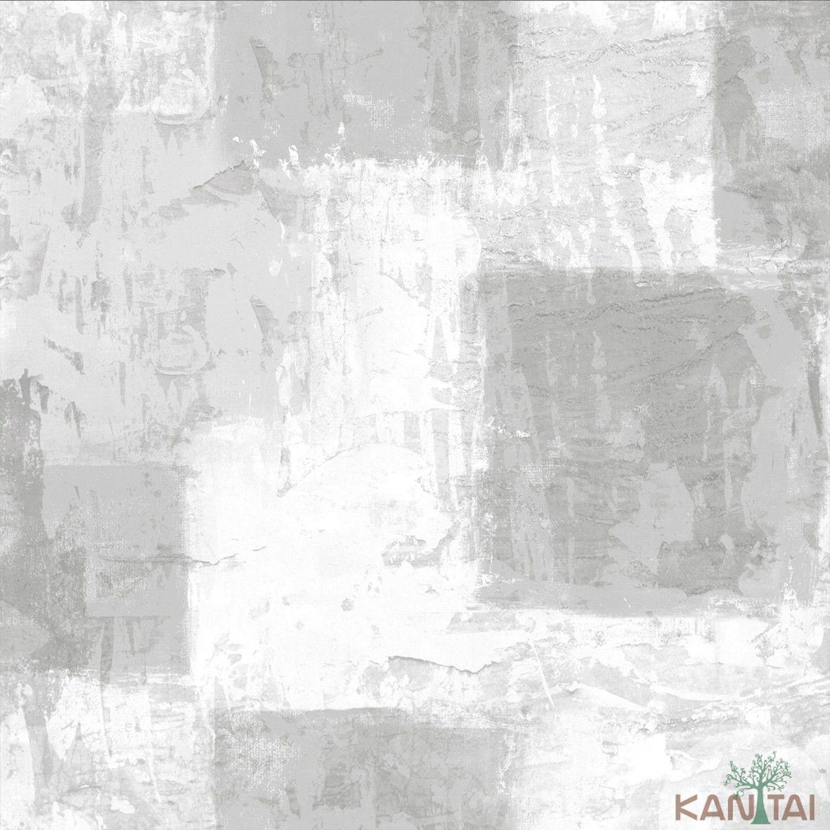 Papel de Parede  Kan Tai Vinilico Coleção Style Aquarelado Concreto Tons Cinza
