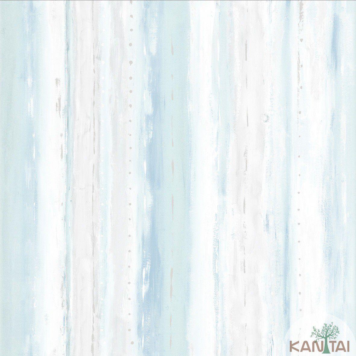 Papel de Parede Kan Tai Vinilico Coleção Style Textura Aquarelado Bege, Cinza, Azul, Verde