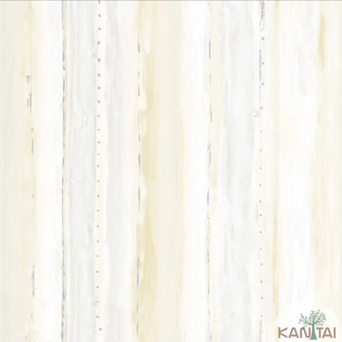 Papel de Parede  Kan Tai Vinilico Coleção Style Textura Cinza, Creme, Amarelo