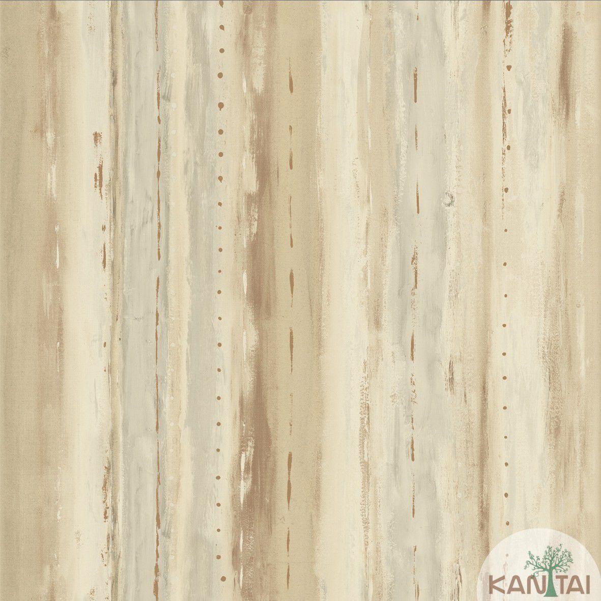 Papel de Parede Kan Tai  Vinilico Coleção Style Aquarelado Bege, Marrom, Cinza, Amarelo