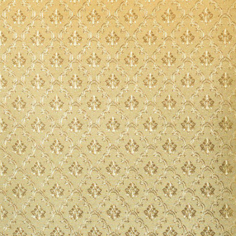 Papel de Parede Paris Decor Vinílico Coleção Paris Mini Damask Dourado
