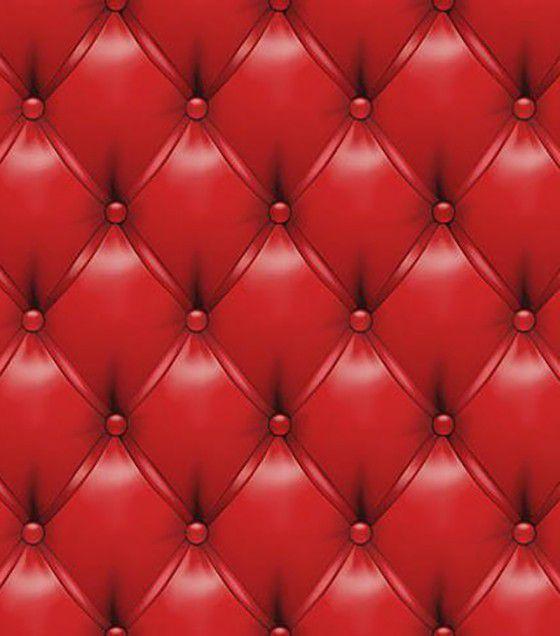 ROLO ADESIVO PAPEL DE PAREDE COM LAMINAÇÃO VINTAGE CAPITONÊ VERMELHO Rolo 0.60m x 2,80m