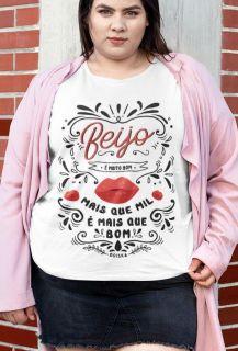 Camiseta Beijo - Sandy e Junior - Plus Size