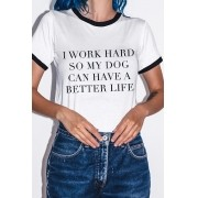 Camiseta College Work Hard