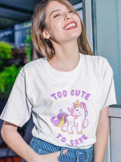 Camiseta Doiska Too Cute to Care