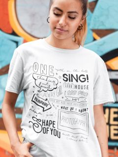 Camiseta Ed Sheeran - Songs
