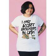 Camiseta PLUS SIZE Apologies