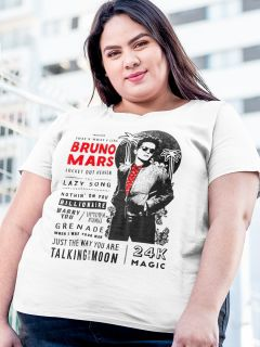 Camiseta PLUS SIZE Bruno Mars