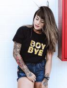 Camiseta Preta Boy Bye