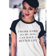 Camiseta Raglan Work Hard
