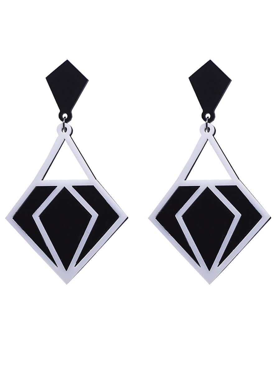 Brinco Geométrico Diamante