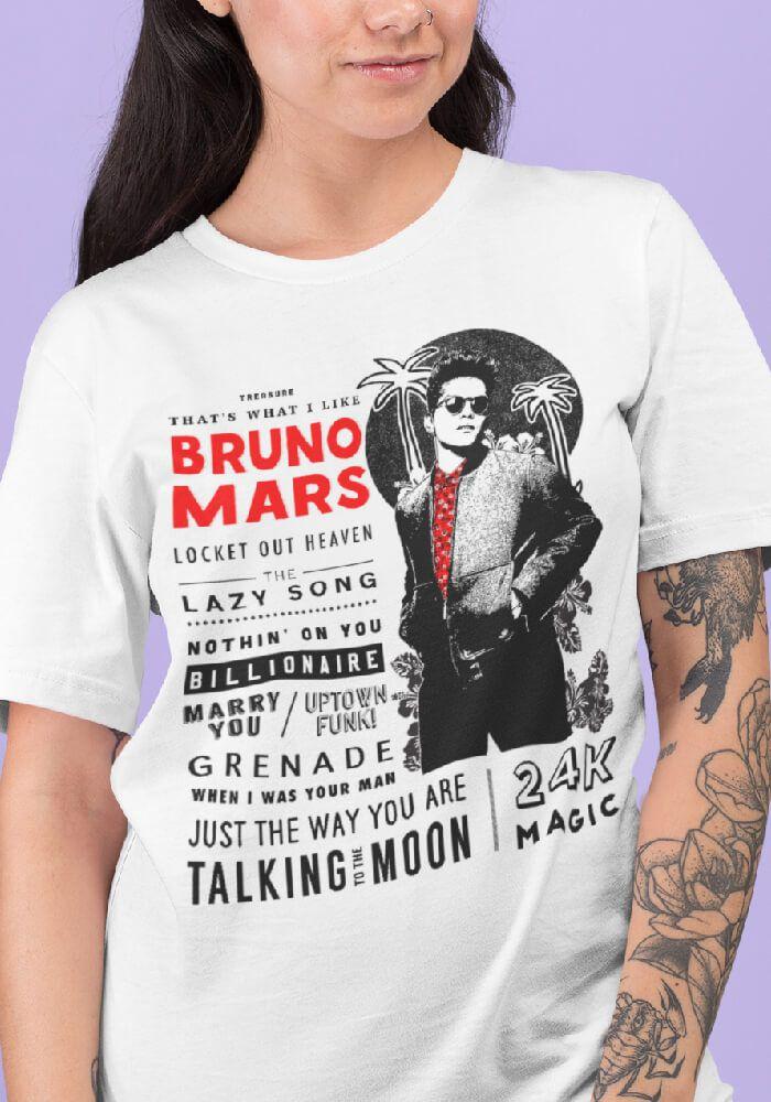 Camiseta Bruno Mars