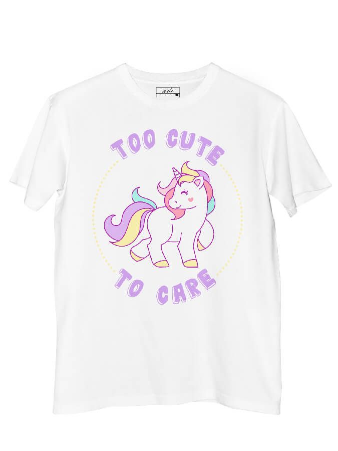 Camiseta Doiska Too Cute to Care  - Doiska