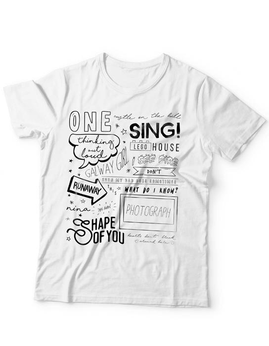 Camiseta Ed Sheeran - Songs  - Doiska