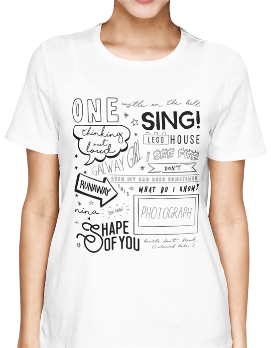 Camiseta Ed Sheeran - Songs