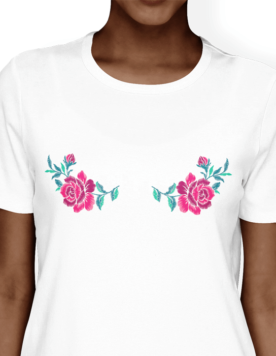 Camiseta Floral Boobs