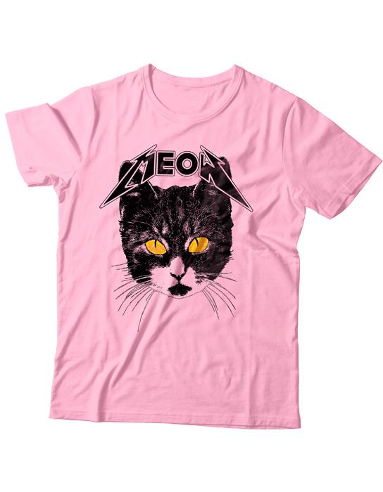 Camiseta Meow Rosa