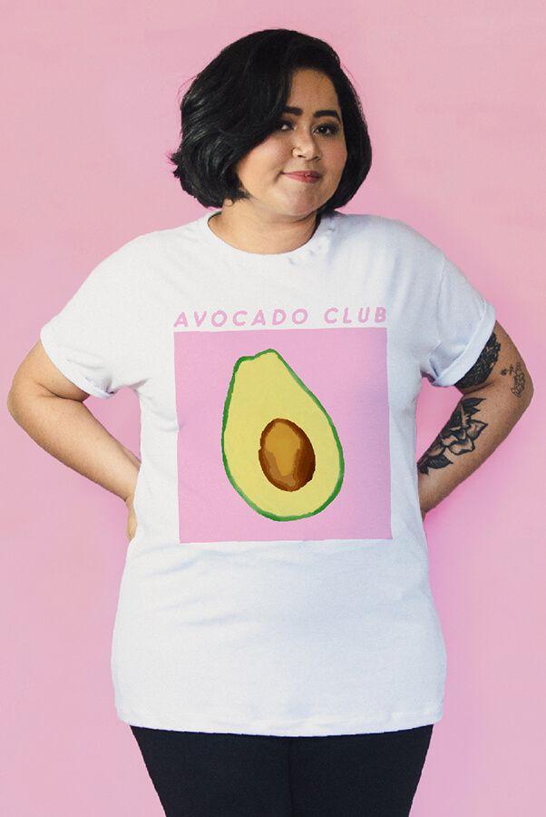Camiseta PLUS SIZE Avocado Club