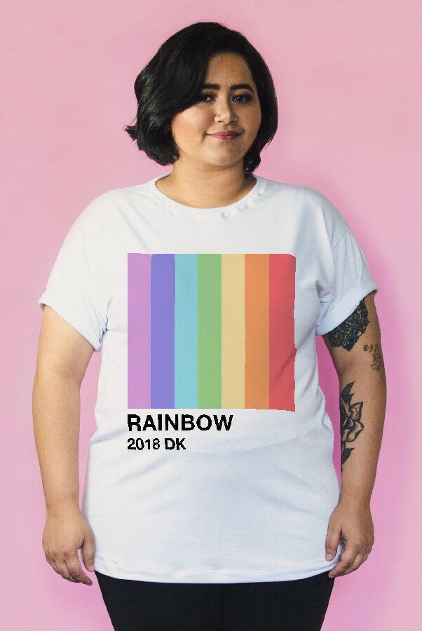 Camiseta PLUS SIZE Pantone Rainbow  - Doiska