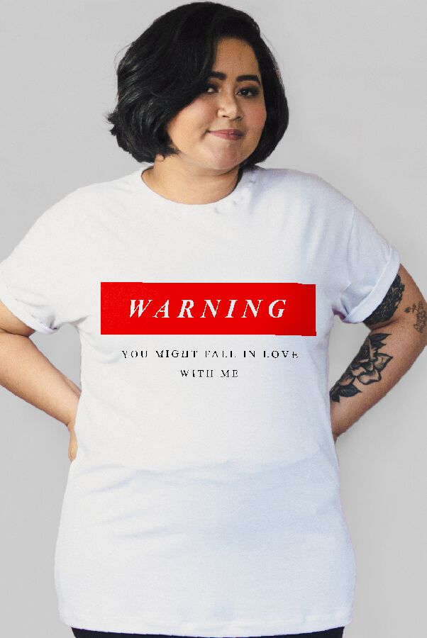 Camiseta PLUS SIZE Warning  - Doiska