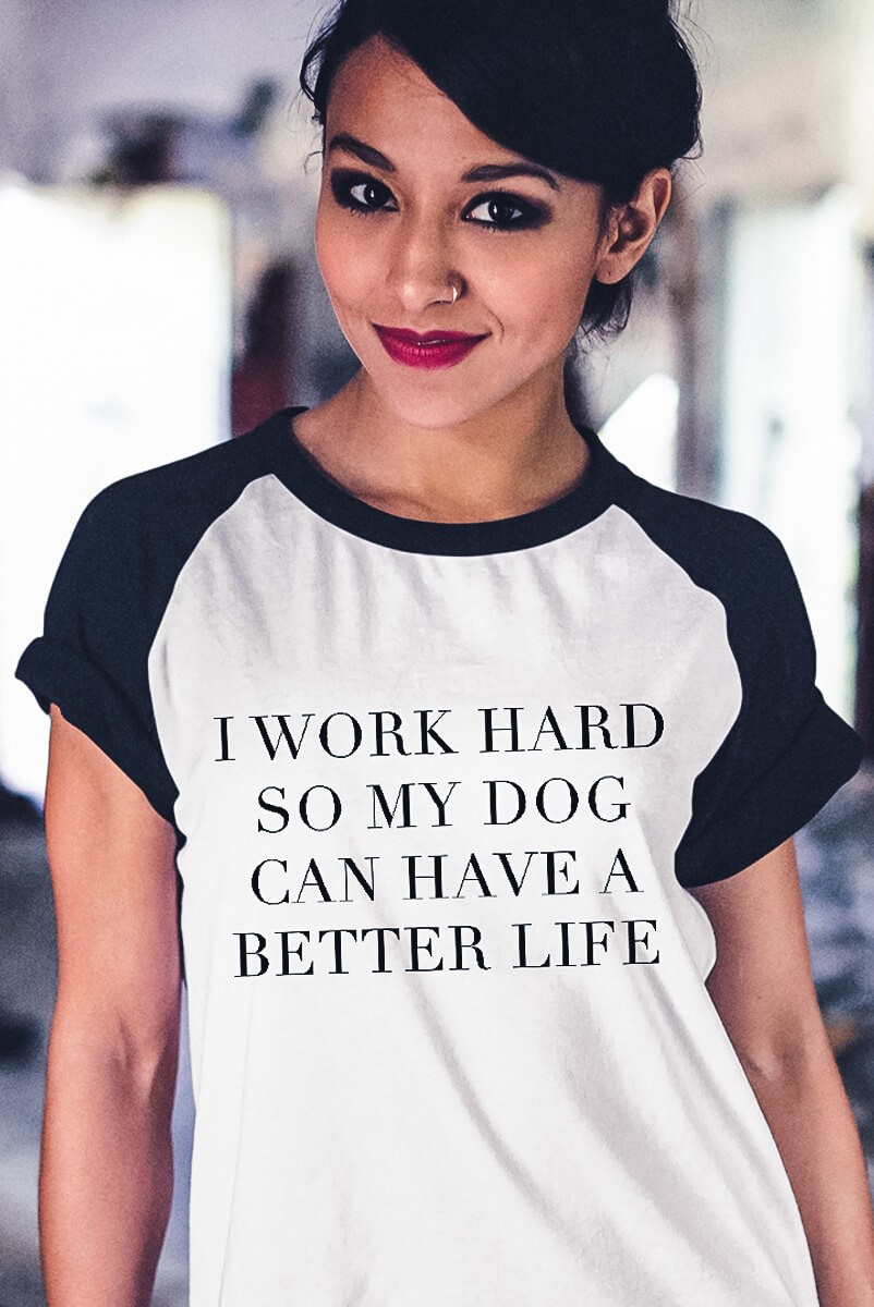 Camiseta Raglan Work Hard  - Doiska