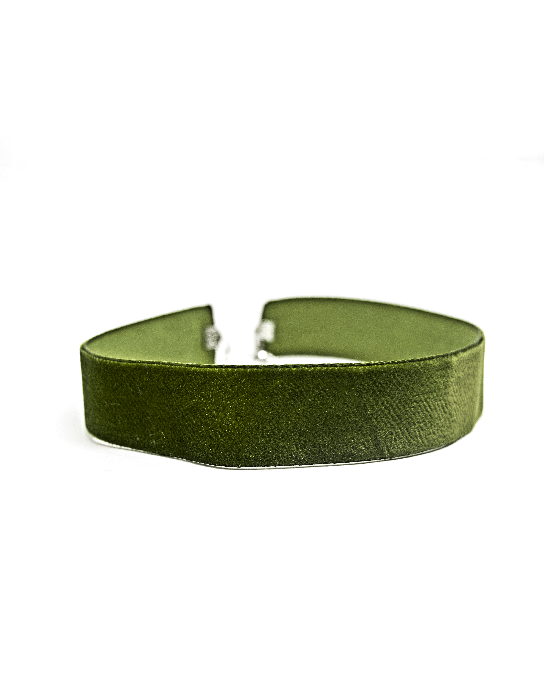 Choker Veludo Verde