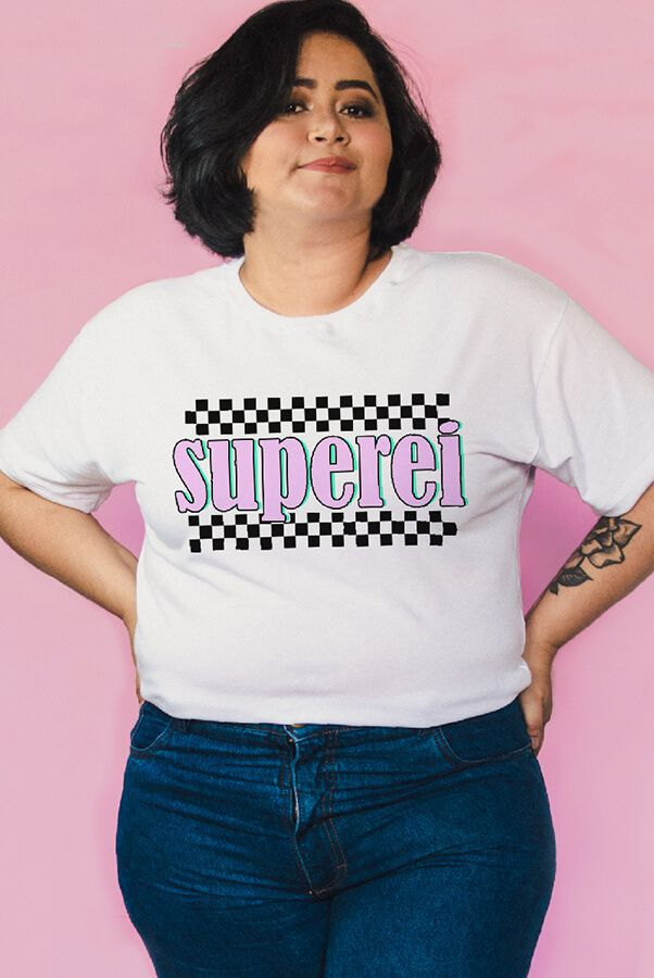 Camiseta PLUS SIZE Superei
