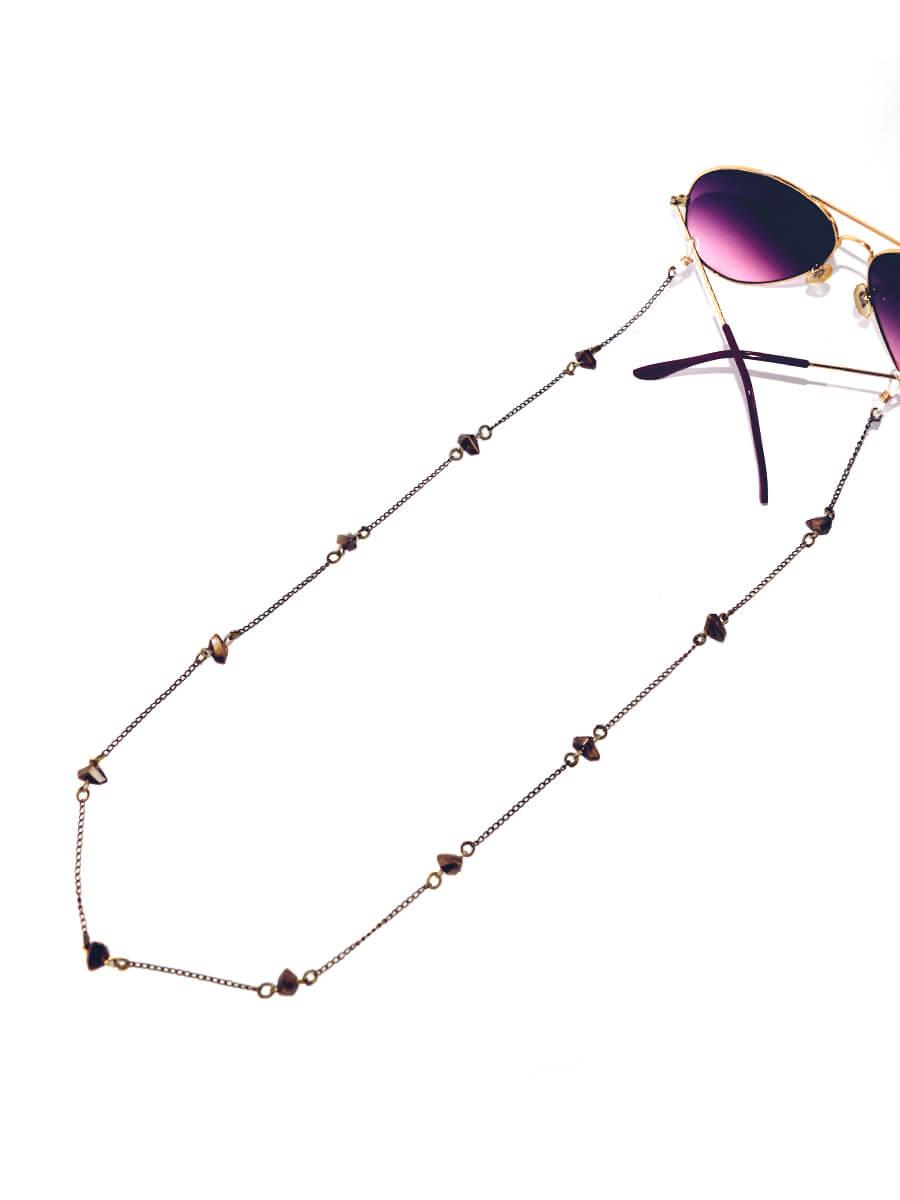 Cordinha Salva Óculos Marrom Fosco