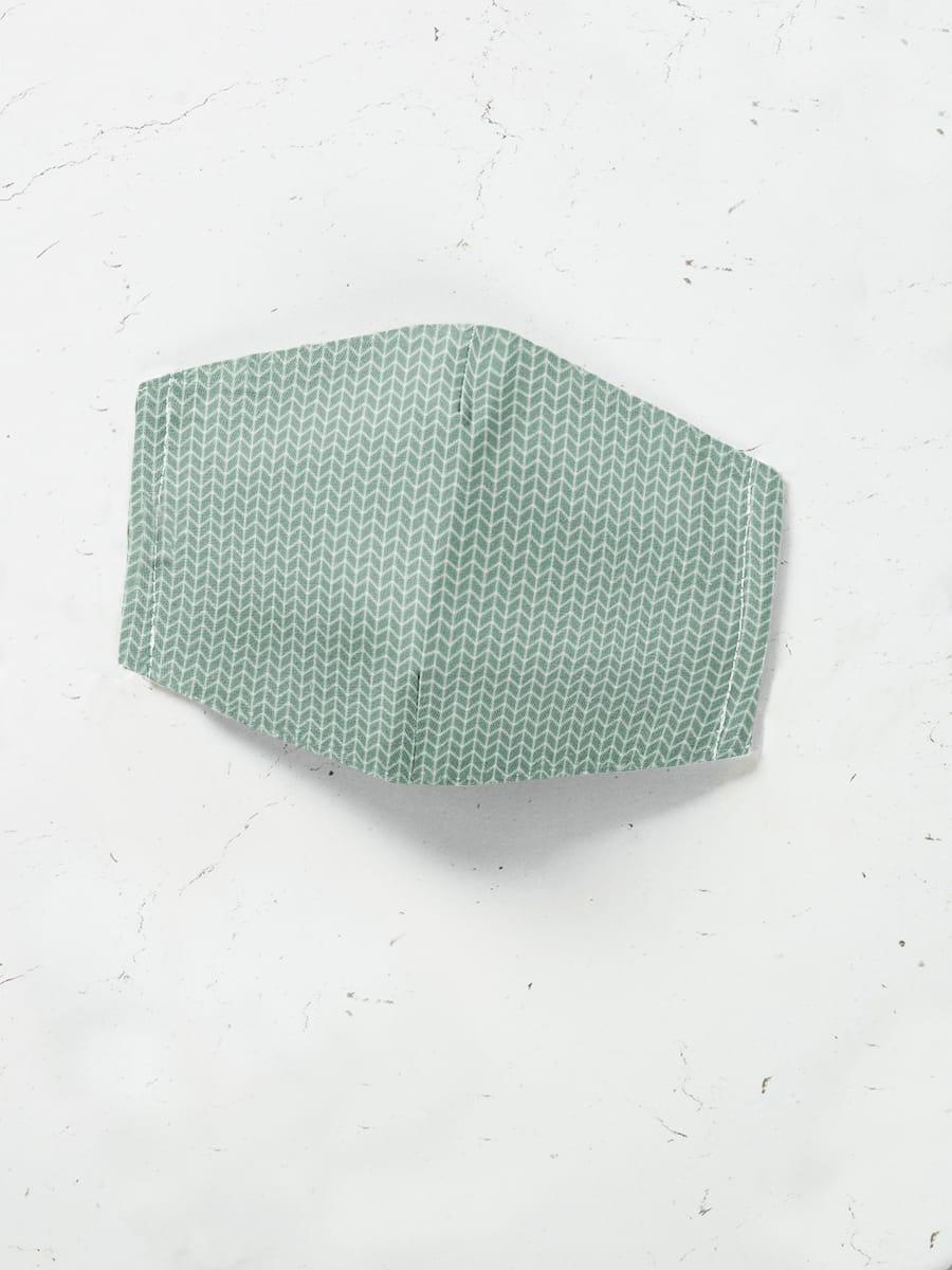 Máscara de Proteção em Tecido - Geométrico Verde