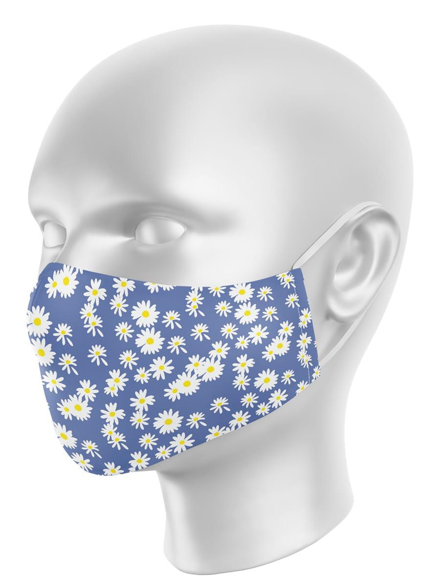 Máscara de Proteção em Tecido - Margarida