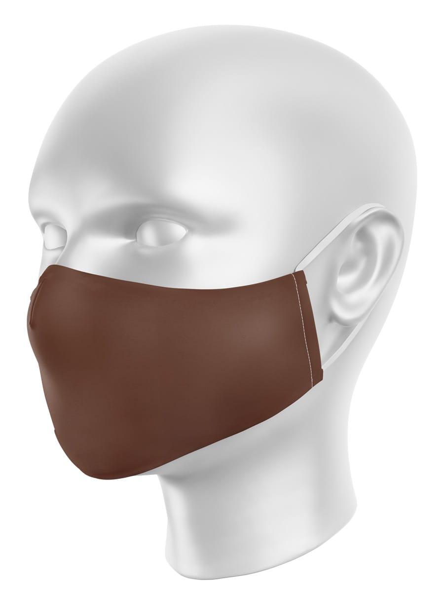 Máscara de Proteção em Tecido - Marrom Fosco