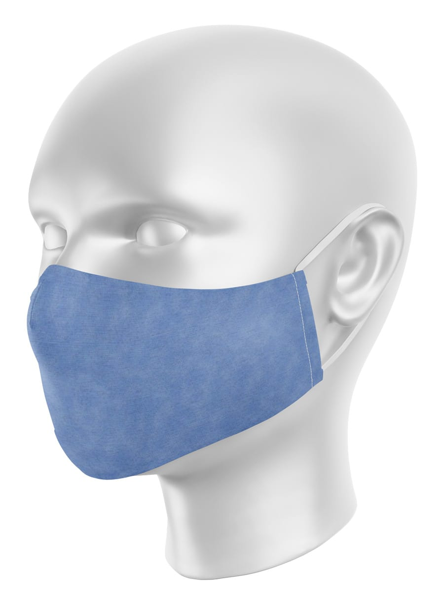Máscara de Proteção em Tecido - Poeira Azul