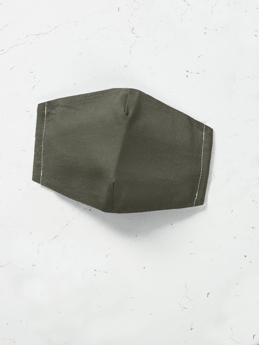 Máscara de Proteção em Tecido - Verde Musgo