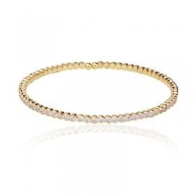 Bracelete zircônias banho de ouro 18k