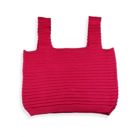 Cropped Milliá Tricot Modal Rosa Pink