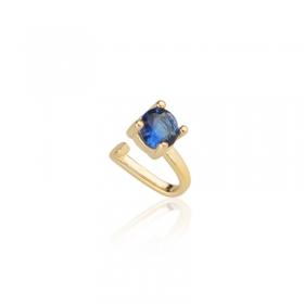 Piercing de Encaixe Milliá Delicado Azul Banho de Ouro 18k