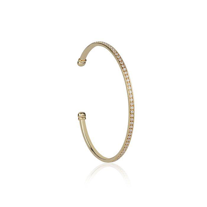 Bracelete Cravejado Banho de Ouro