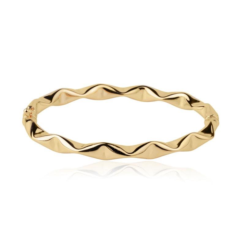 Bracelete efeito amassado banho de ouro 18k