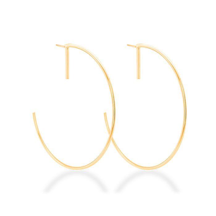 Brinco Argola Clássica Semijoia Dourada