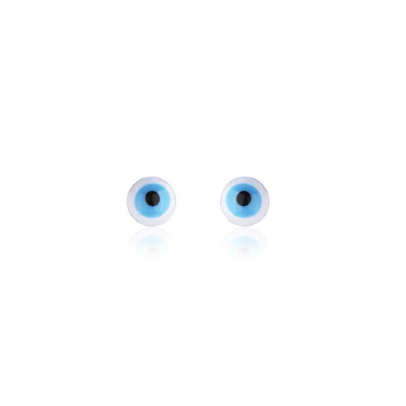 Brinco segundo furo olho grego ródio negro