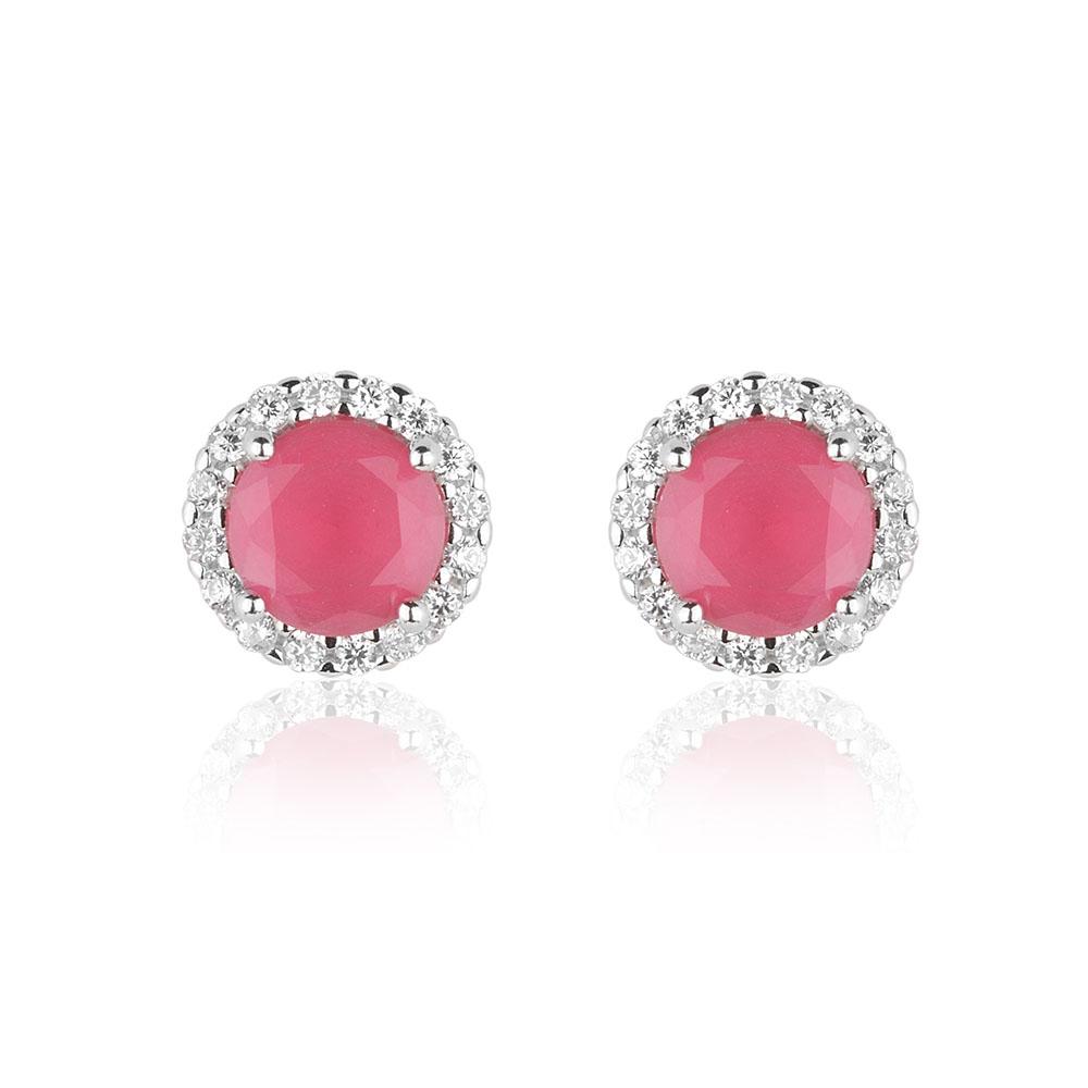 Compre o Mix de brincos cor rubi e tiara com 5% de desconto