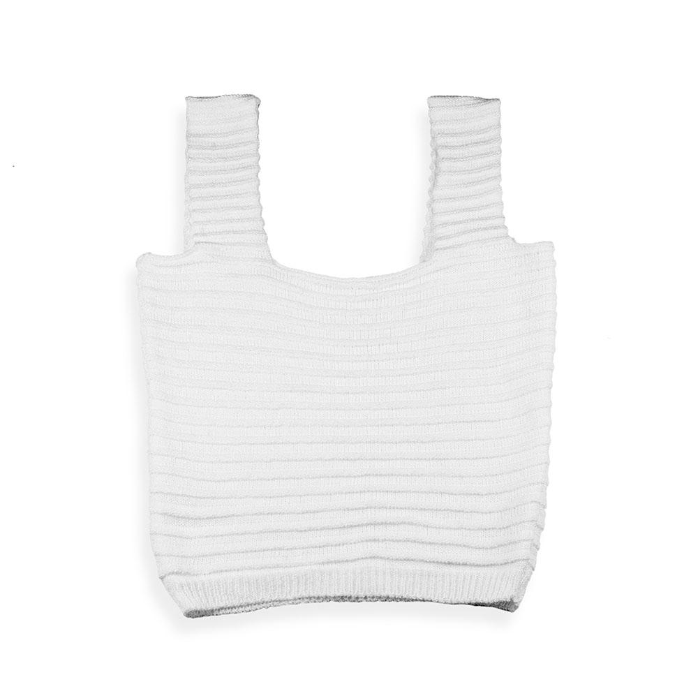Cropped tricot modal branco