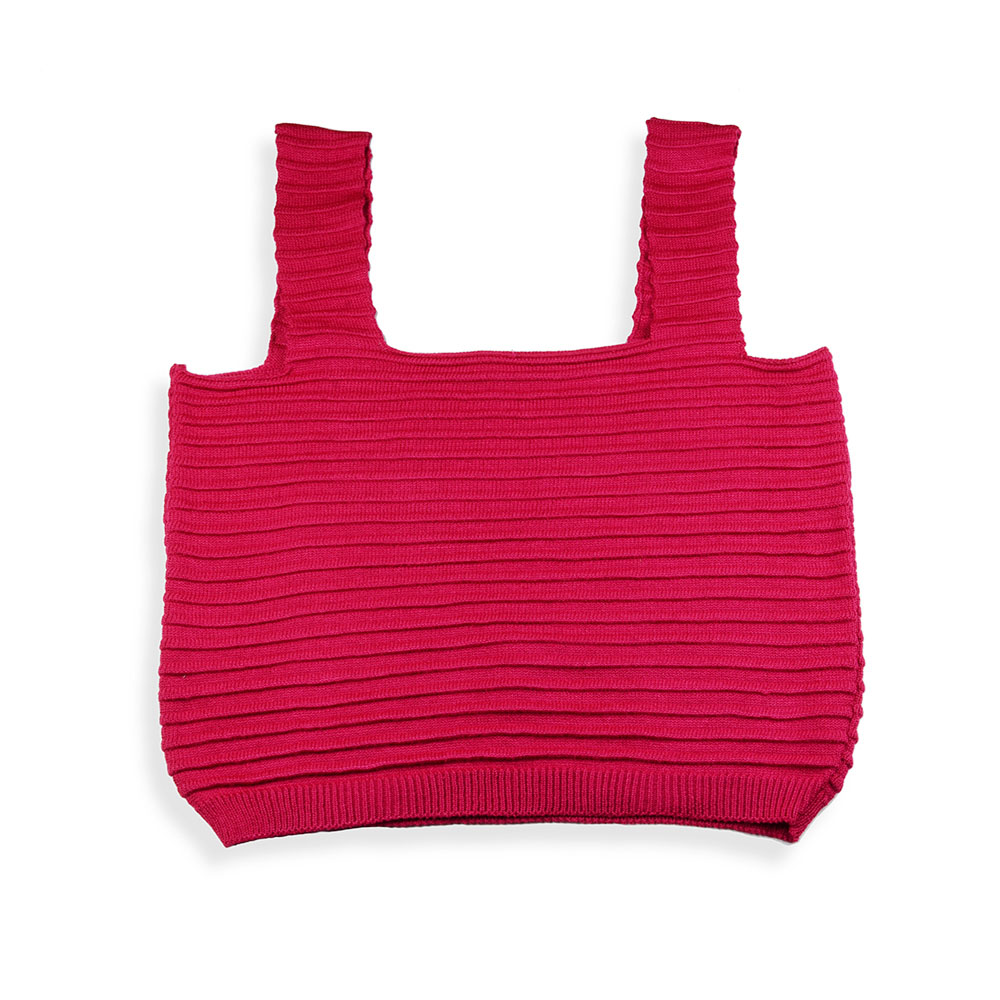 Cropped tricot modal rosa pink
