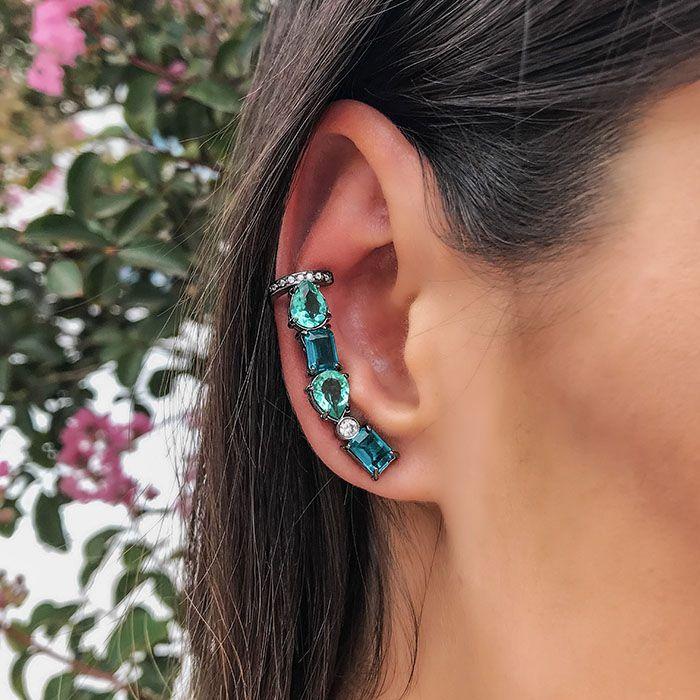 EAR CUFF COLORS RÓDIO NEGRO