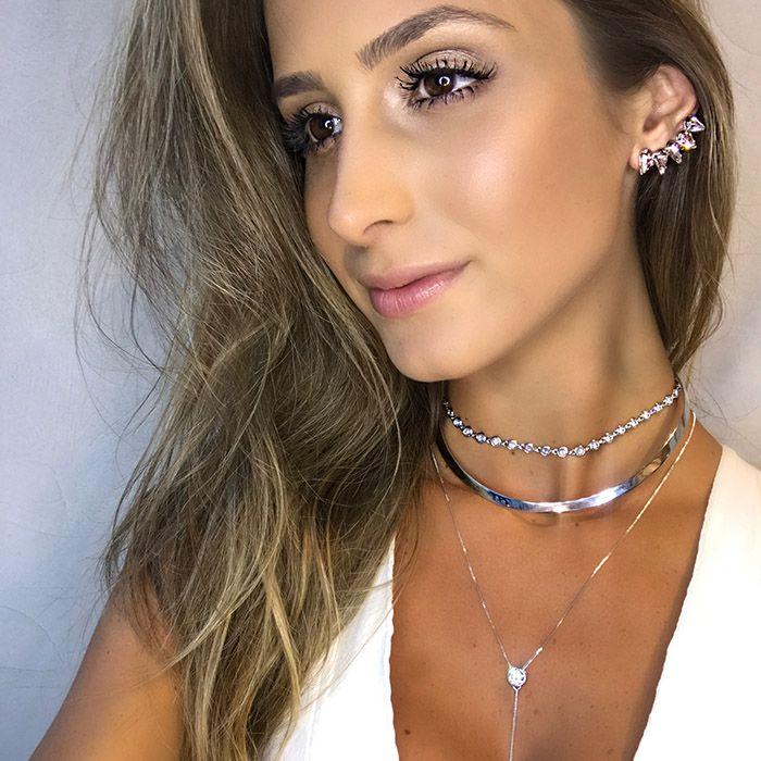 GARGANTILHA LISA RÓDIO BRANCO
