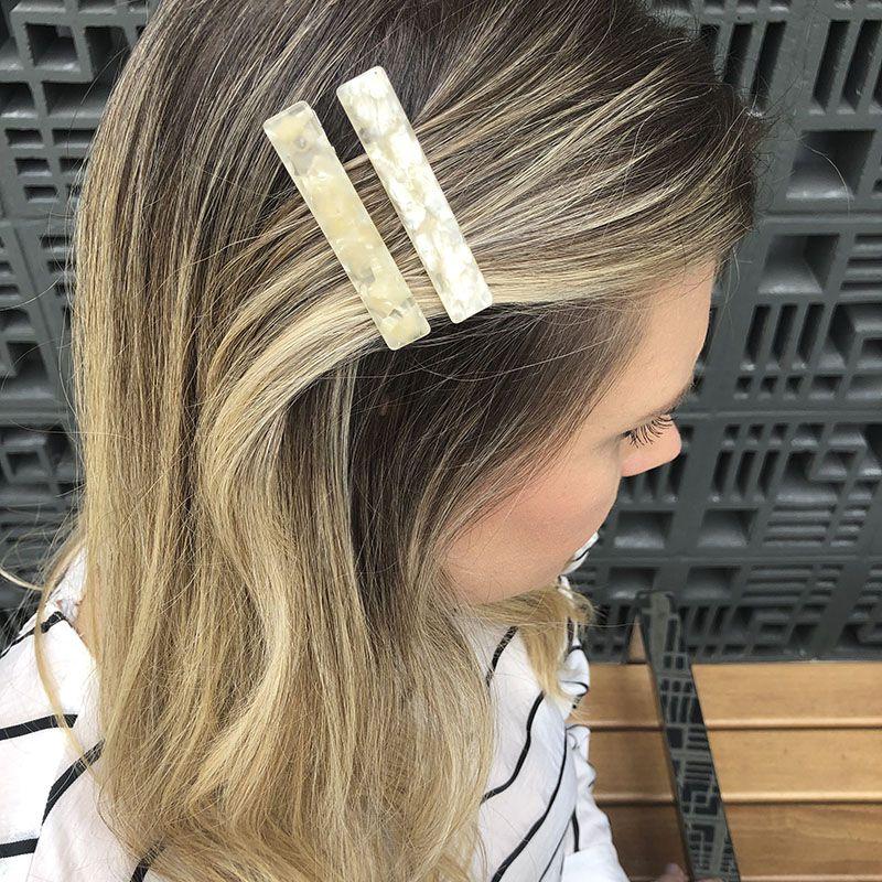 Kit para cabelo bico de pato madrepérola