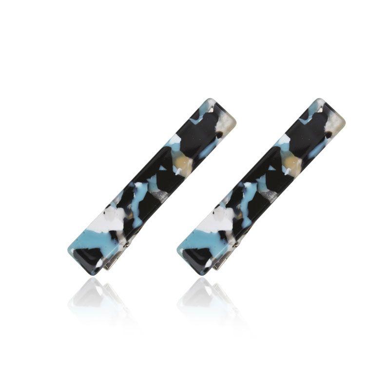 Kit para cabelo bico de pato mesclado azul preto e branco