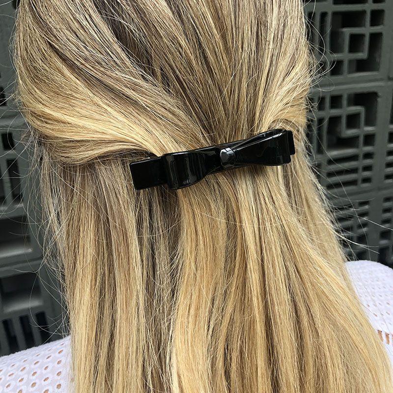 Presilha de cabelo laço preto
