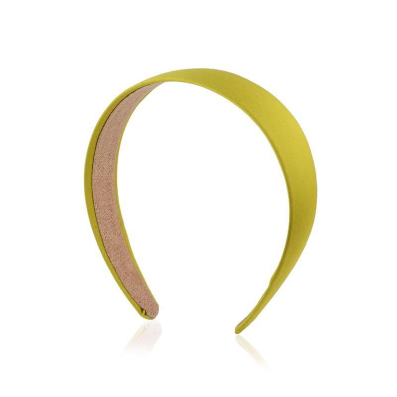 Tiara de cabelo lisa verde limão
