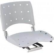 Cadeira P/ Barco Giratória E Dobrável C/ Assento Pvc Rígido - Cinza